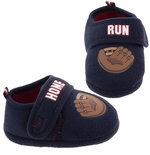 Navy Home Run Baseball Glove Slippers for Toddler Boys