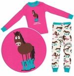Pink I Need My Booty Sleep Pajamas for Toddlers and Girls by Lazy One