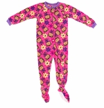 Pink Monkey Girls Footed Pajamas