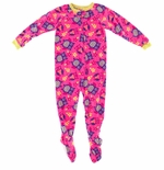 Pink Owl Footed Girls Pajama