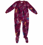 Red Sports Footed Pajamas for Boys