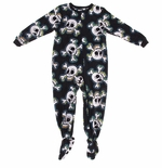 Skull and Crossbones Boys' Footed Pajamas