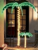 7' Ropelight Lighted Holographic Outdoor Palm Tree #169481