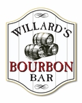 Bourbon Bar Wood Pub Sign