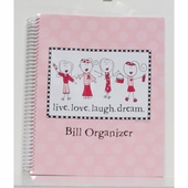 Breast Cancer Bill Organizer - Live, Love, Laugh, Dream