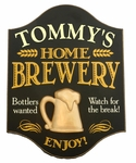 Home Brewery Personalized Wood Pub Sign