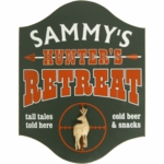 Hunter Retreat Deer Personalized Wood Pub Sign