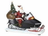 "Musical 8"" Lighted Santa On a Snowmobile #34430"