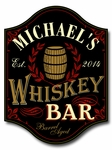 Whiskey Bar Personalized Wood Pub Sign