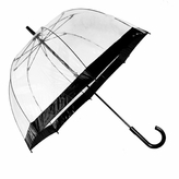 Fulton Birdcage Black Trim Bubble Umbrella