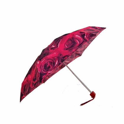 Fulton Red Roses Flat Mini Umbrella - Click to enlarge