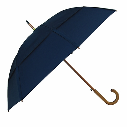 GustBuster Classic Navy Blue Stick Umbrella  - Click to enlarge