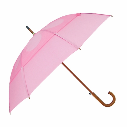 GustBuster Classic Pink Stick Umbrella  - Click to enlarge