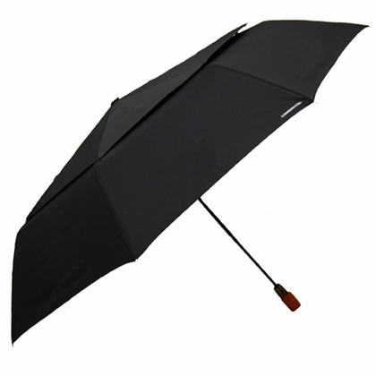 London Fog Oversized Black Umbrella - Click to enlarge