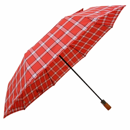 London Fog Oversized Red Tartan Umbrella - Click to enlarge