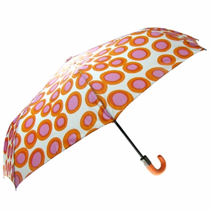 Marimekko Petrooli Orange/Pink Hook Umbrella - Click to enlarge