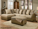 Harrison Taupe Sectional Sofa