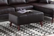 Adalene Brown Leather Ottoman