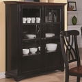 Addison Black And Cherry Wood Curio