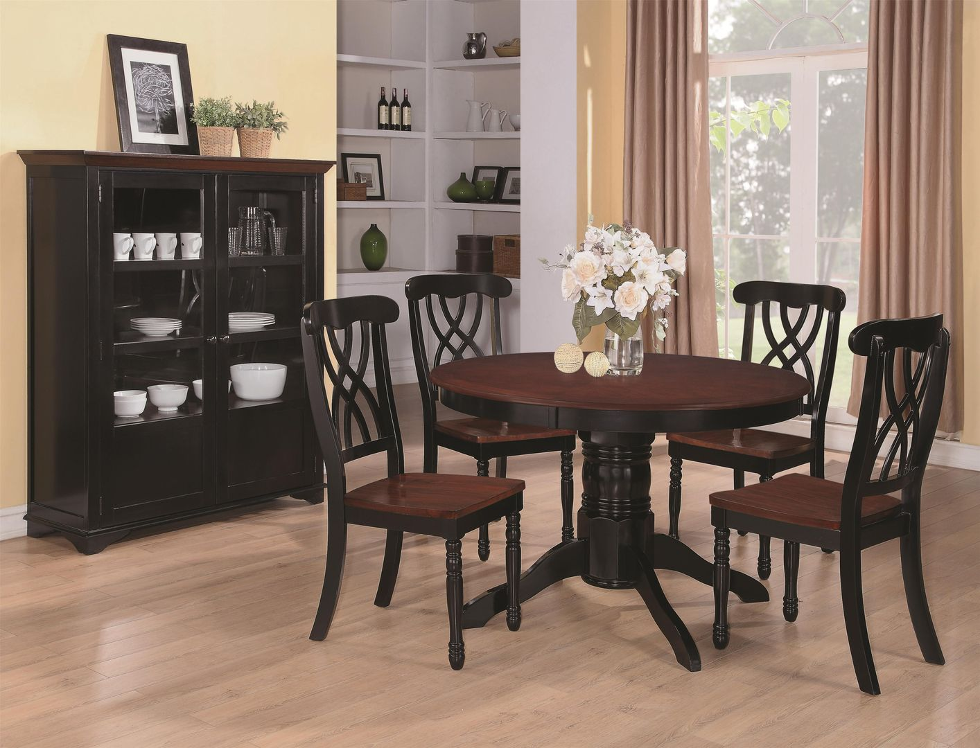 Coaster Addison 103700 Black Wood Dining Table In Los Angeles Ca