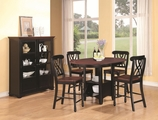 Addison Black And Cherry Wood Pub Table Set