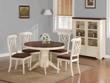 Addison Buttermilk And Dark Cherry Wood Dining Table Set