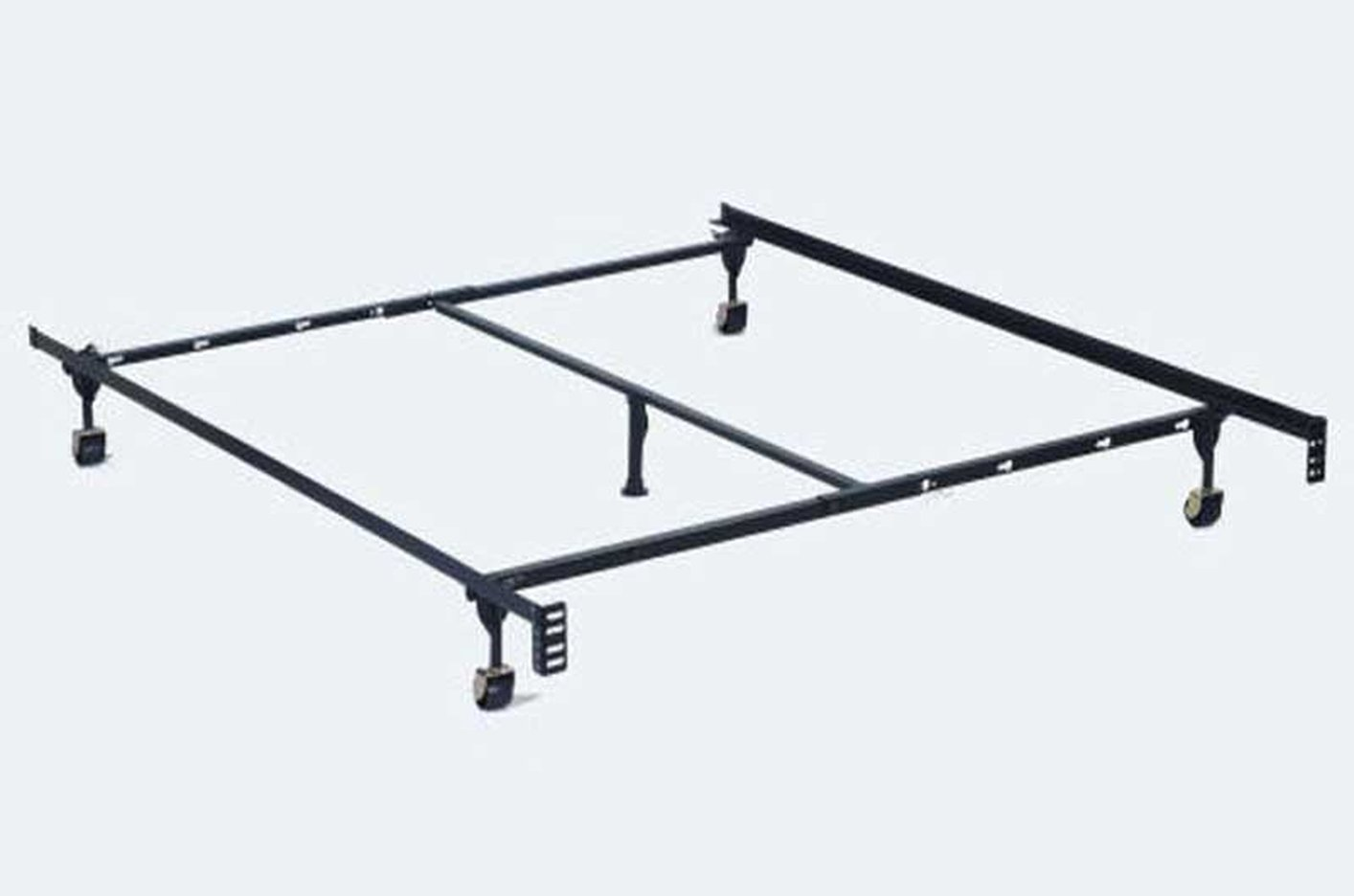 black metal twin or full or queen size metal bed frame