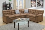 Ajax Beige Fabric Sectional Sofa