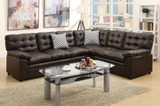 Ajax Brown Leather Sectional Sofa