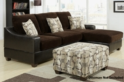 Alan Chocolate Sectional Sofa