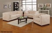 Alexis Beige Fabric Sofa and Loveseat Set