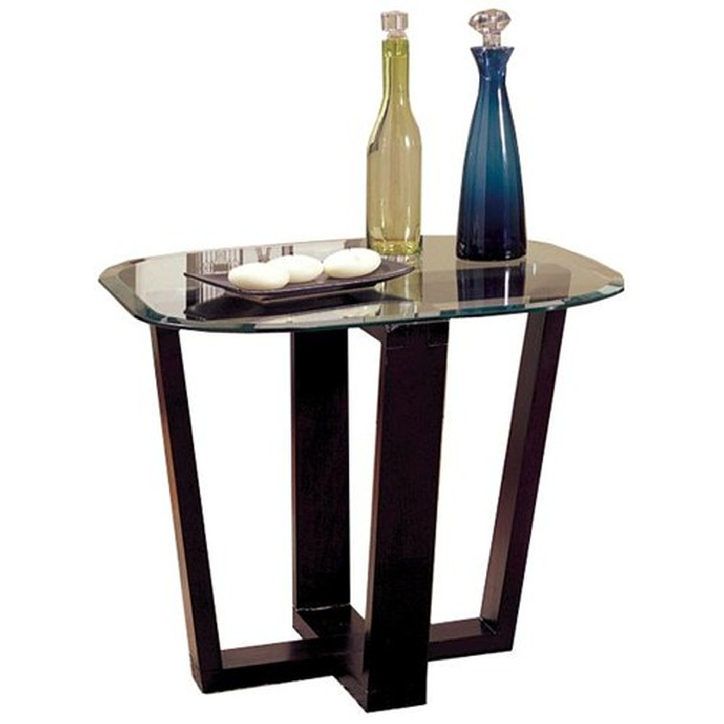 Coaster Alexis 700275 Black Glass Coffee Table Set
