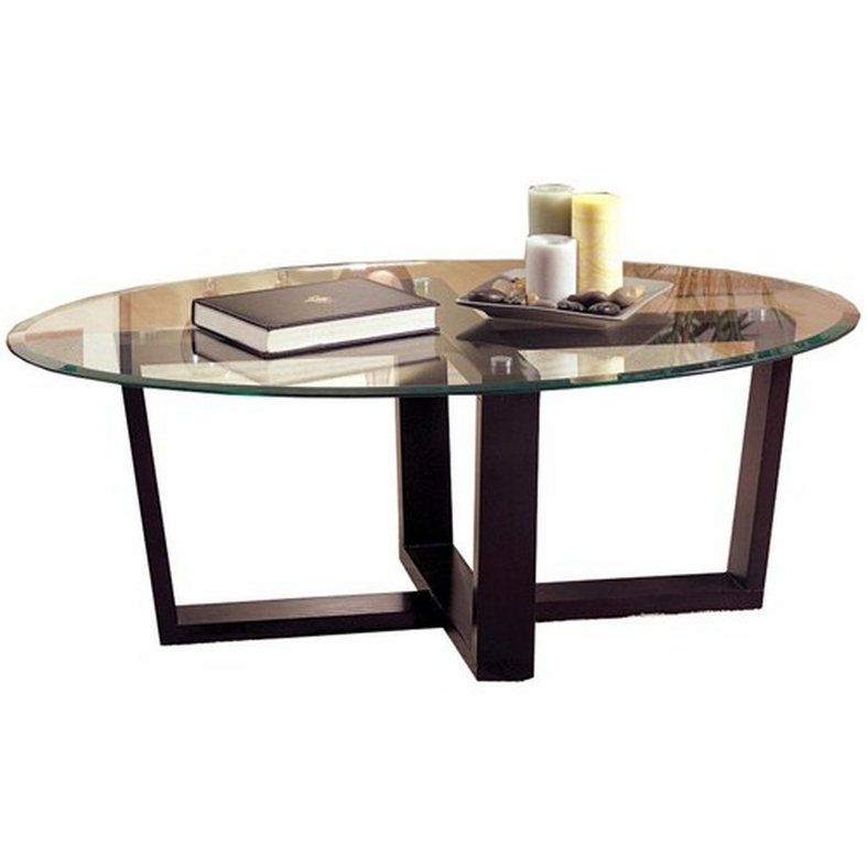 Coaster Alexis 700275 Black Glass Coffee Table Set Steal