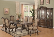 Andrea Brown Cherry Wood Dining Table Set