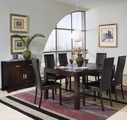 Anetta Dark Cappuccino Wood Dining Table Set