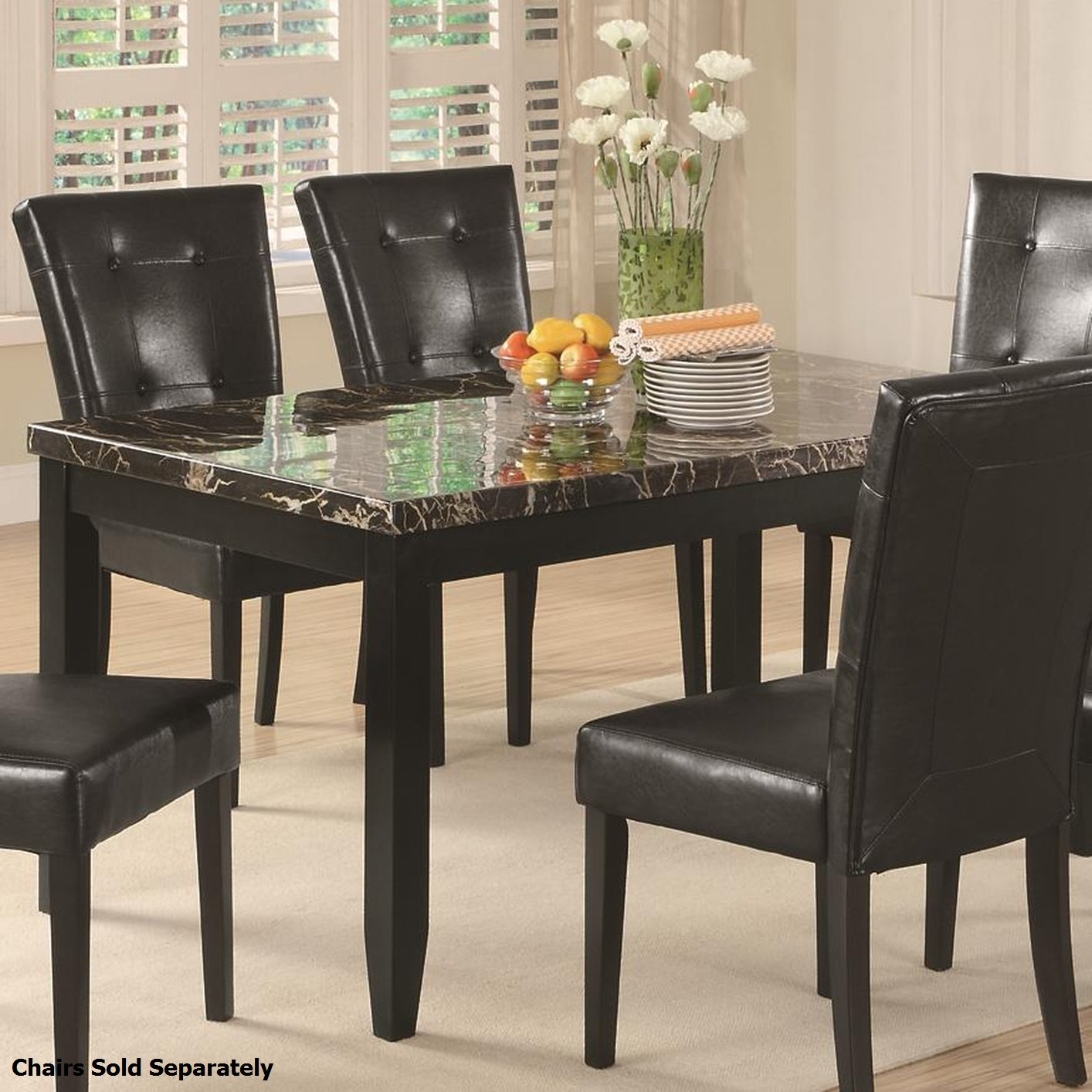 Coaster 102791 Black Marble Dining Table