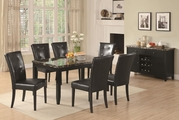 Anisa Cappuccino Wood And Marble Dining Table Set