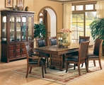 Anson Rich Brown Wood Dining Table