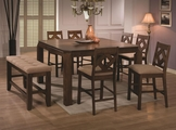 Antoine Walnut Wood Pub Table Set