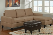 Arcuri Reversible Sectional Sofa with Ottoman