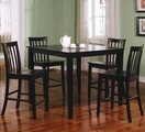 Ashland Walnut Wood Pub Table Set