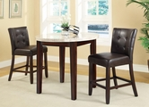 Astrid Medium Brown Wood And Marble Pub Table Set