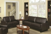 Ava Brown Sofa and Loveseat