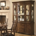 Avery Brown Oak Wood Buffet and Hutch