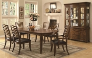 Avery Brown Oak Wood Dining Table