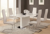 Baker White Metal And Glass Dining Table Set