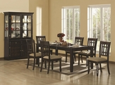 Baldwin Deep Cappuccino Wood Dining Table Set