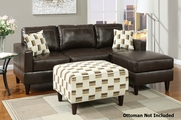 Baldwin Reversible Espresso Sectional Sofa
