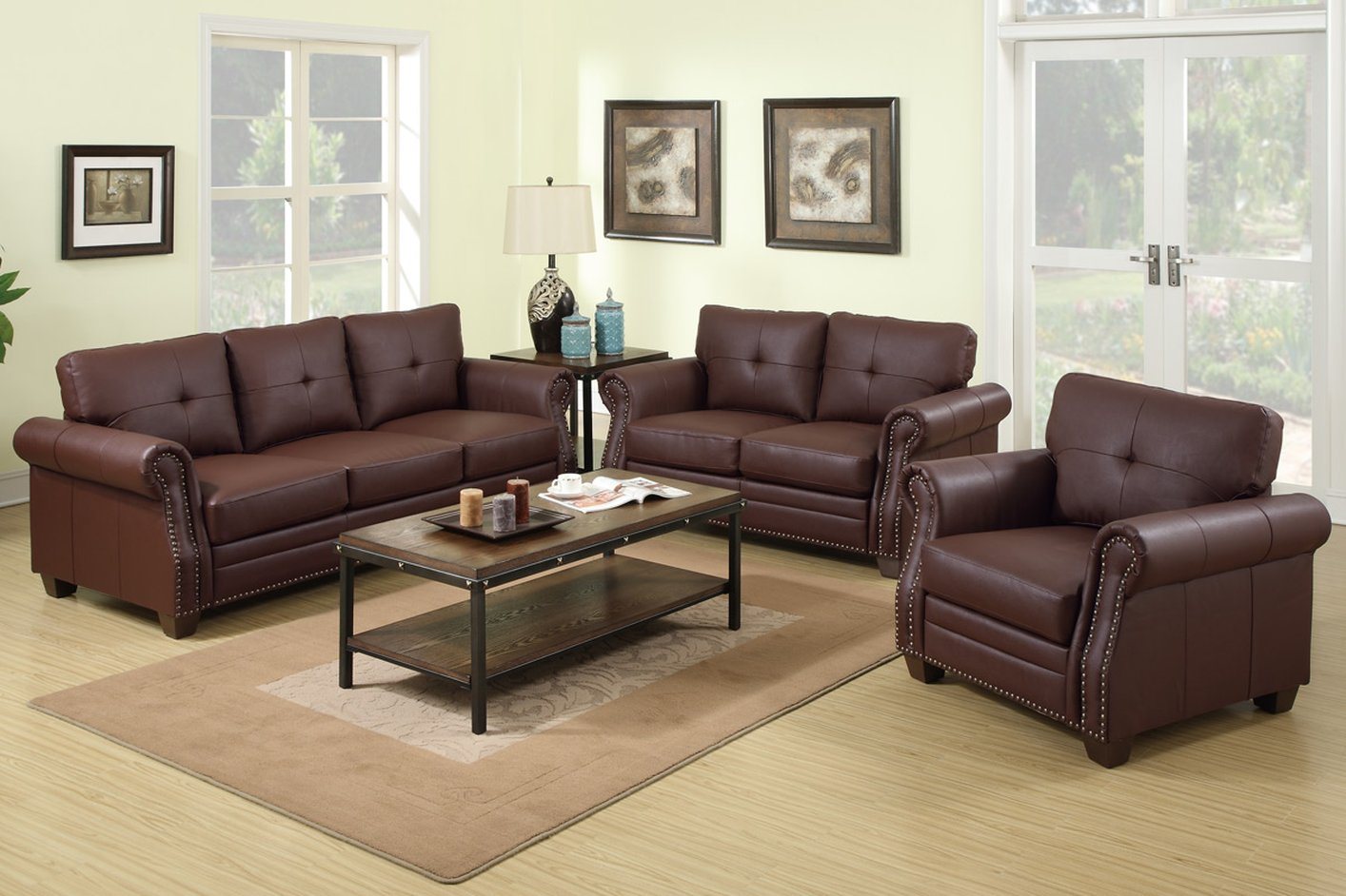 Poundex Baron F7799 Brown Leather Sofa And Loveseat Set. Bay Window Treatment Ideas Living Room. Living Room With No Fireplace. Create Your Own Living Room Colors. Small Living Room Sofas Furniture. Cosy Living Room With Log Burner. Dark Gray Living Room Rug. Pictures For Living Room Walls. Living Room And Bedroom Paint Ideas