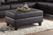 Beaufort Brown Leather Ottoman